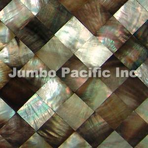 Blacklip Shell Tiles Diamond Design