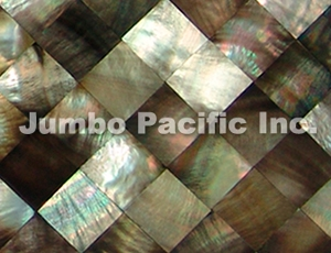Blacklip Shell Tiles Diamond Design
