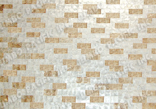 Random Natural White & Gold Wall Panel